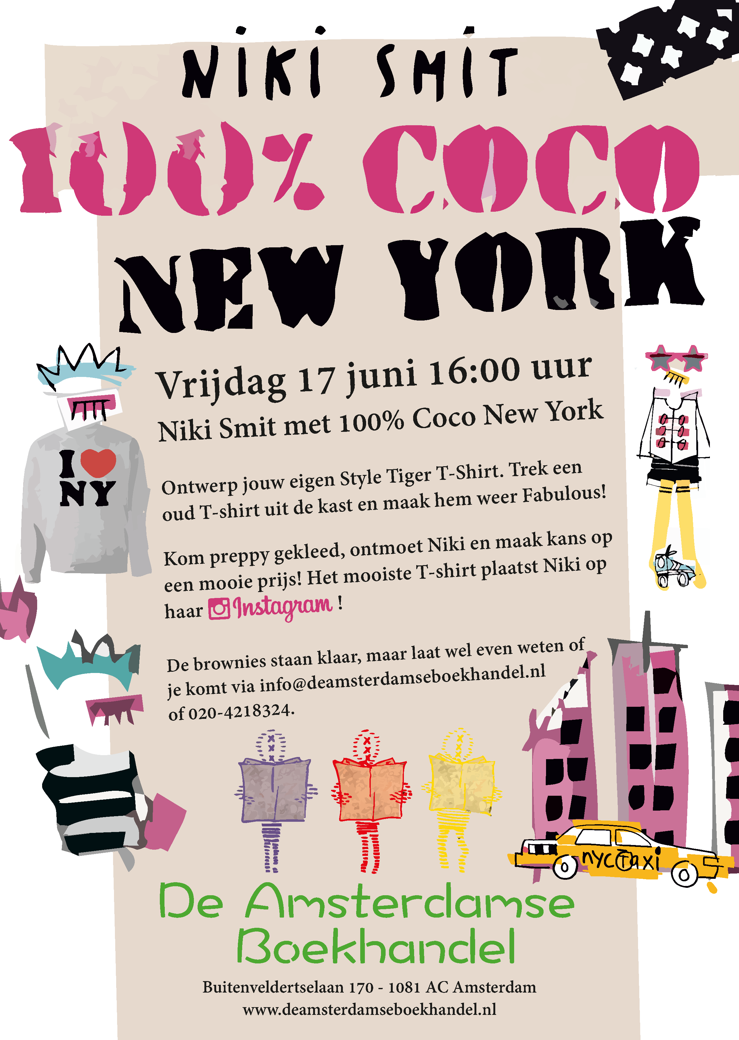 Niki Smit met 100% Coco New York