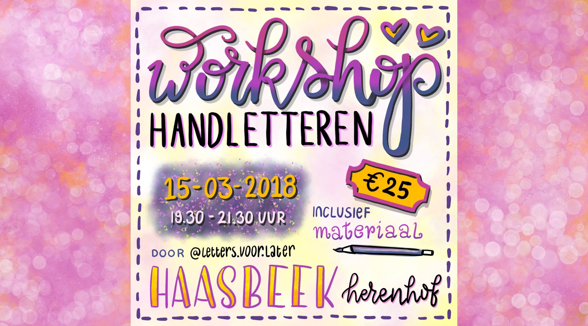 Workshop Handletteren voor beginners